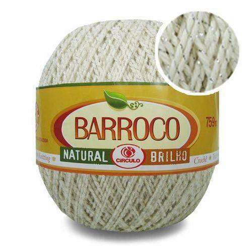 Barbante Barroco Natural Brilho Prata 700g - Círculo