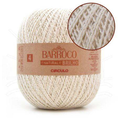 Barbante Barroco Natural Brilho Prata Nº04 700g