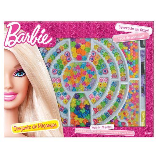 Barbie Caixa de Miçangas 100 Peças - Fun Divirta-se