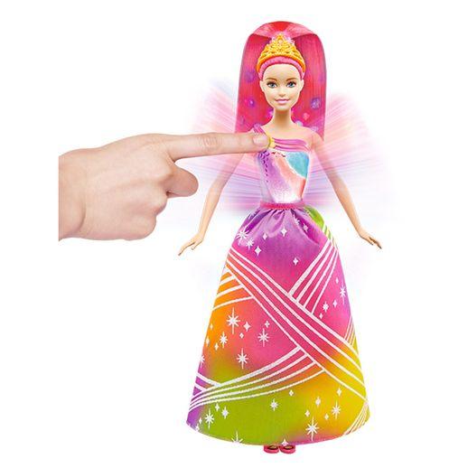 Barbie Fantasia Princesa Luzes Arco Iris - Mattel