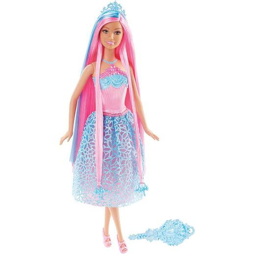 Barbie Fantasia Princesa Saia Rosa e Azul - Mattel