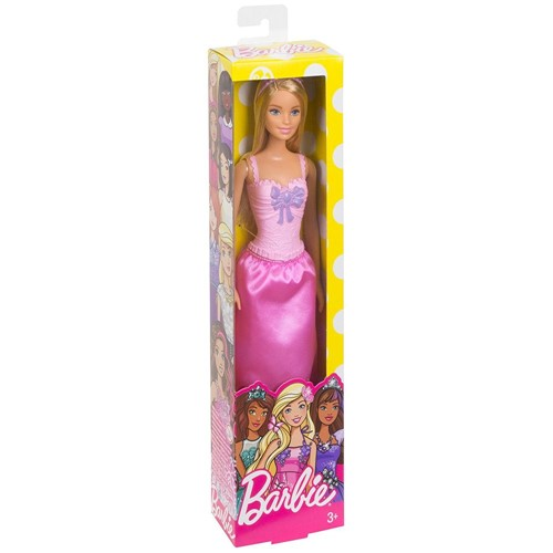 Barbie Fantasia Princesas Basicas - Vestido Rosa