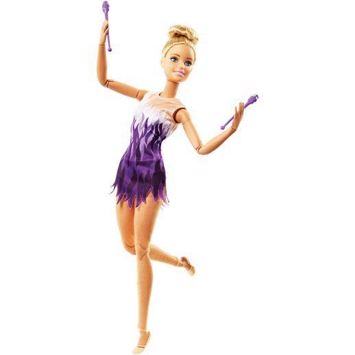 Barbie Feita para Mexer Esportista Atleta de Ginástica Rítmica - Mattel
