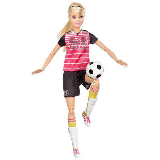 Barbie Feita para Mexer Esportista Futebol - Mattel