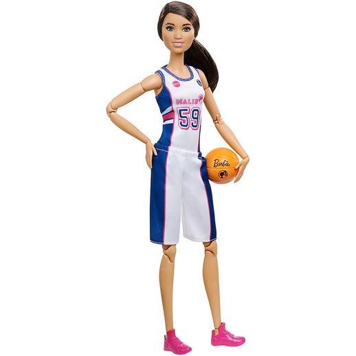 Barbie Feita para Mexer Esportista Jogadora de Basquete - Mattel