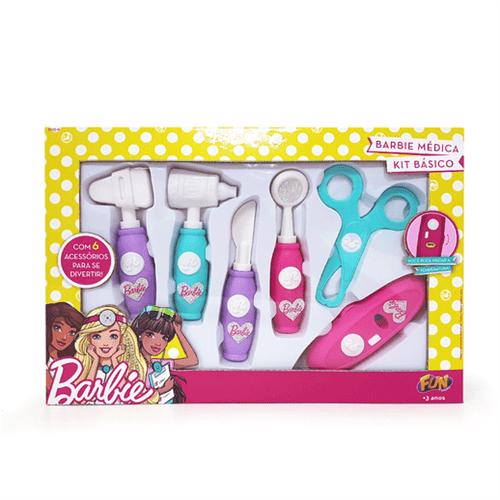 Barbie Kit Médica com 6 Instrumentos - Fun Divirta-Se