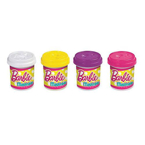 Barbie - Massinha 4 Potes - Barão Toys