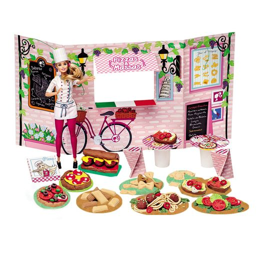 Barbie Massinha Food Truck Cantina e Pizzas - Fun Divirta-se