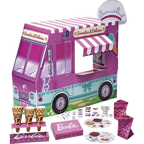 Barbie Massinha Food Truck Sorvetes e Delicias Divertidas - Barbie