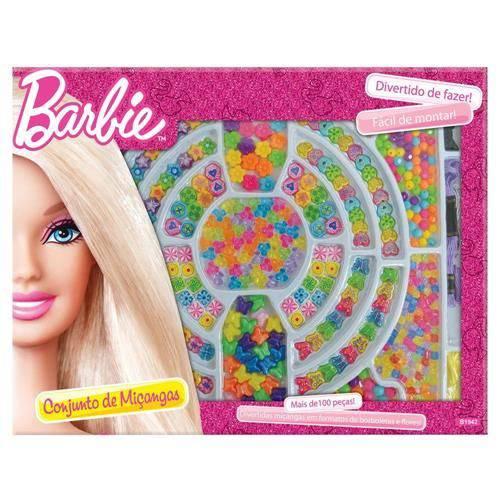 Barbie Miçanga Caixa com 100 Peças Fun