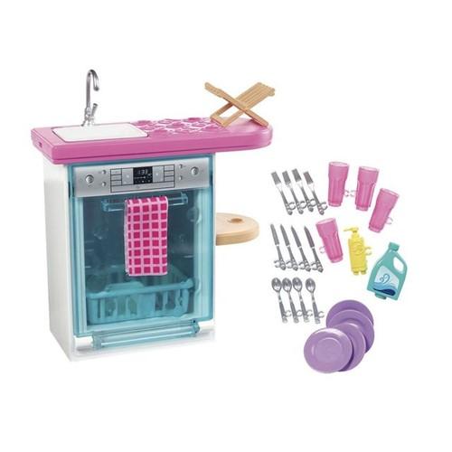 Barbie Móveis Básicos com Acessórios FXG41 Mattel Cozinha Cozinha