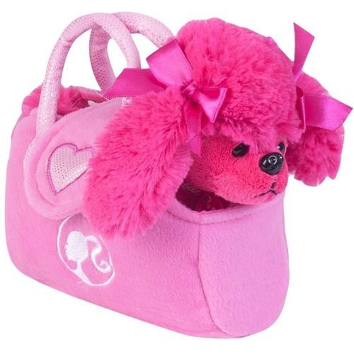 Barbie Pelúcias na Bolsinha Poodle Rosa - Fun Divirta-Se