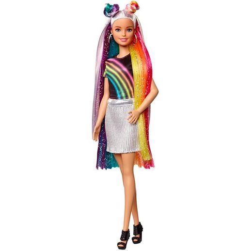 Barbie Penteados de Arco Íris - Mattel