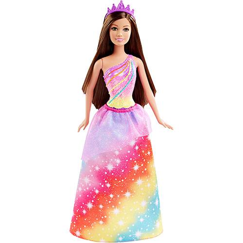 Barbie Princesa Penteados Mágicos Princesa Rainbow Fashion - Mattel