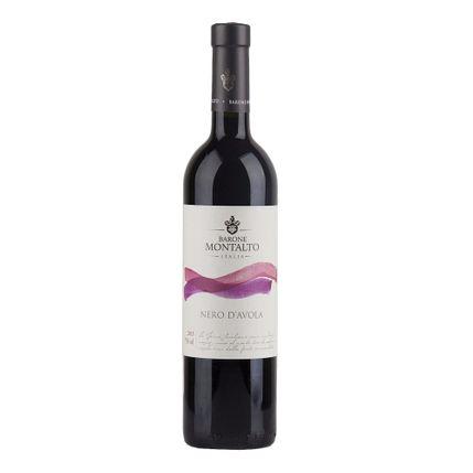 Vinho Barone Mont. Acq Nero Davola Terre Sicil. Igt 2017 375 Ml