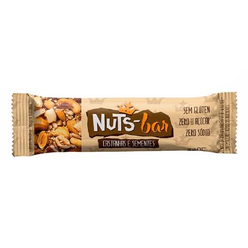 Barra de Castanhas e Sementes Nuts Bar com 25g