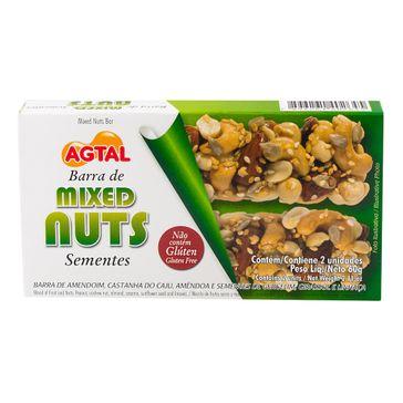 Barra de Cereais &joy Mixed Nuts Sementes Caixa com 2 Unidades de 30g Cada