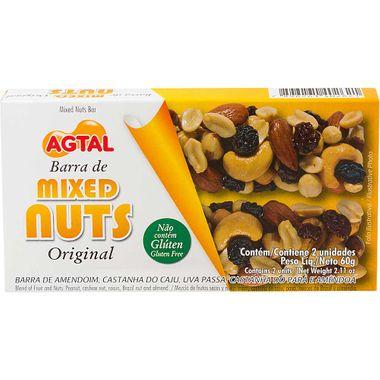Barra de Cereal Mixed Nuts Original Agtal 2X30g