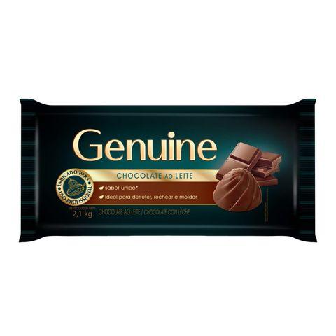 Barra de Chocolate Genuine ao Leite 2,1kg - Cargill