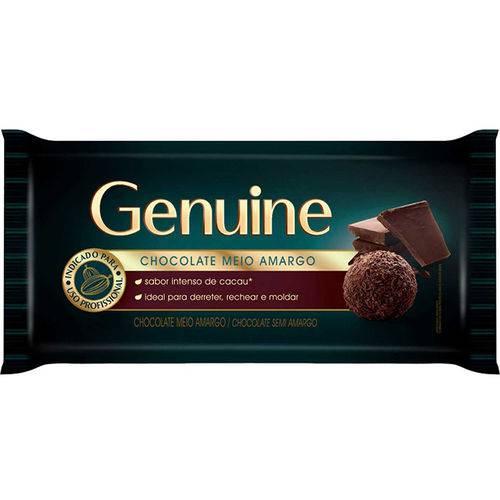 Barra de Chocolate Genuine Meio Amargo 1,05kg - Cargill