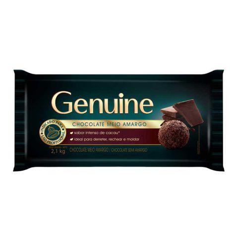 Barra de Chocolate Genuine Meio Amargo 2,1kg - Cargill