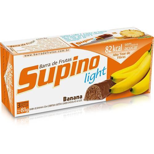 Barra de Frutas Supino Light Banana e Chocolate ao Leite 28g - Embalagem com 3 Unidades - Banana Brasil