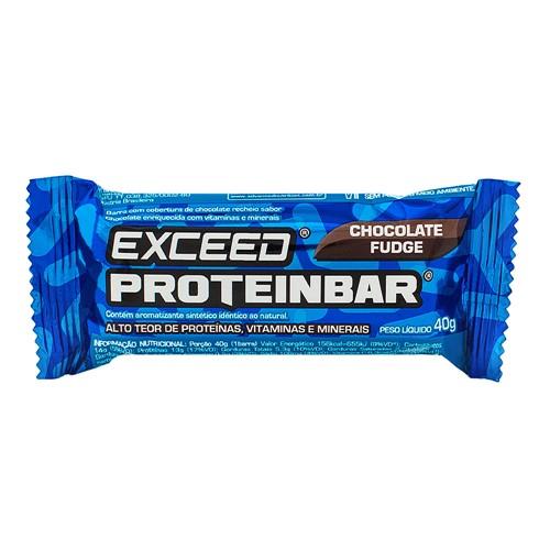 Barra de Proteína Exceed Proteinbar Advanced Nutrition Chocolate Fudge com 40g