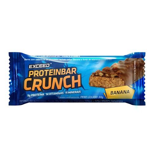 Barra de Proteína Exceed Proteinbar Crunch Banana 30g