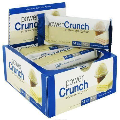 Barra de Proteina Power Crunch - Baunilha Caixa com 12 - Bnrg