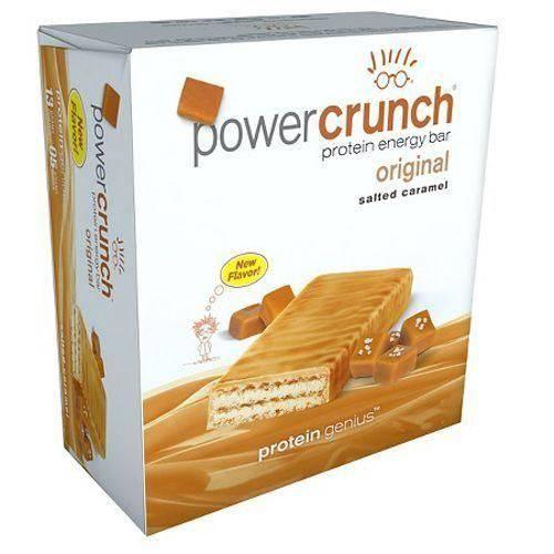Barra de Proteina Power Crunch - Caramelo Salgado - Caixa com 12 - Bnrg