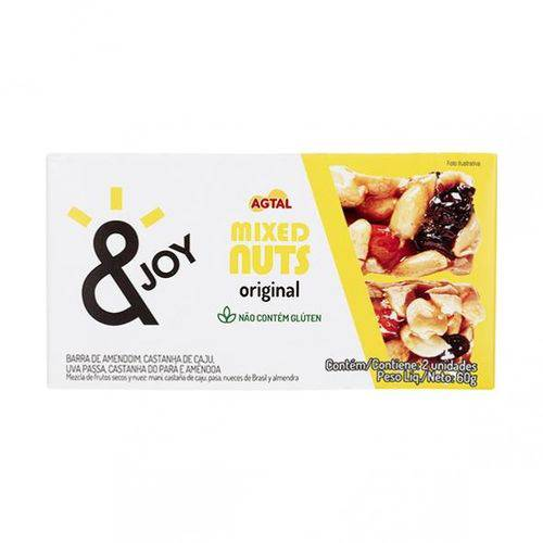 Barra Mixed Nuts &JOY Original 30g X 2 - Agtal