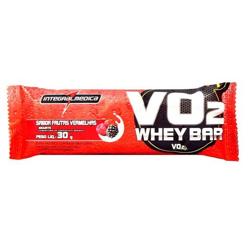 Barra Proteica VO2 Whey Bar Integralmédica Sabor Frutas Vermelhas e Iogurte com 30g