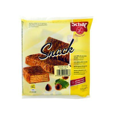 Barras de Wafer Cobertas com Fina Camada de Chocolate S/ Glúten 105 G - Schar