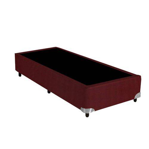 Base Box Bipartido 27cmx79cmx198cm Suede Romance Gazin Vinho