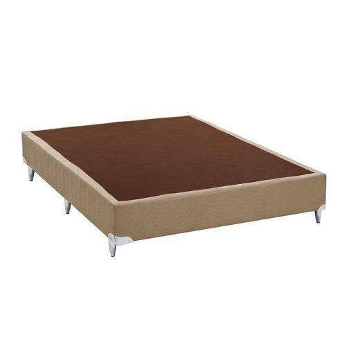 Base Box Casal 30cmx138cmx188cm Camurça Ortobom Bege