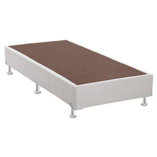 Base Box Solteiro 30cmx88cmx188cm Camurça Ortobom Branco