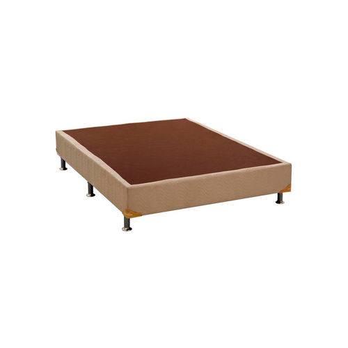 Base Cama Box Camurça Bege Casal (138x188x23) Ortobom