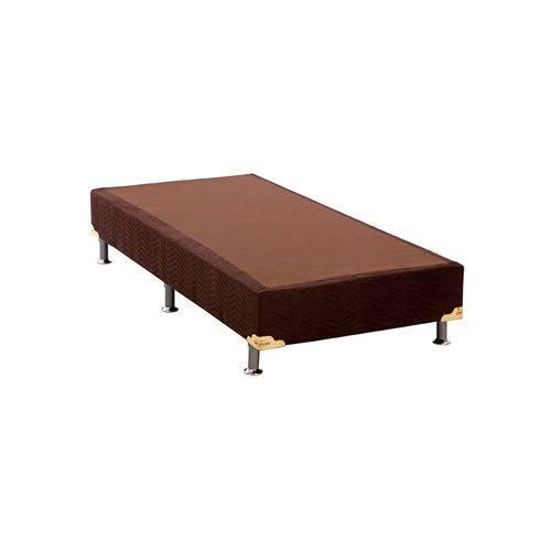 Base Cama Box Camurça Marrom Solteiro (88x188x23) Ortobom