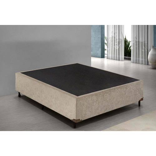 Base Cama Box Casal Suede 138x188 Bege