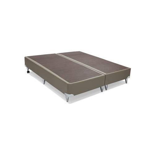 Base Cama Box Courino Bege Super King 193x203x30 Ortobom