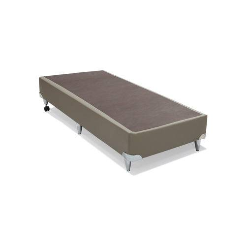 Base Cama Box Courino Bege Solteiro (88x188x30) Ortobom