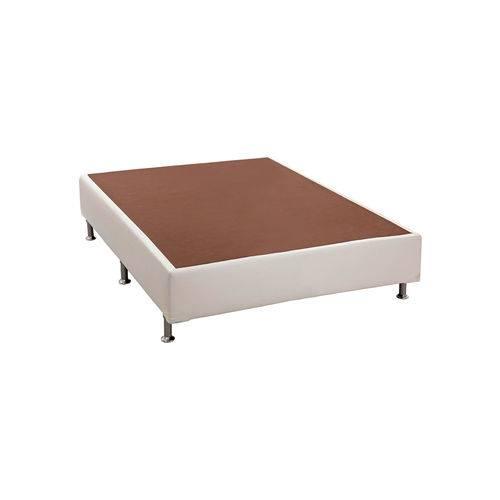 Base Cama Box Courino Branco Viúva (128x188x23) Ortobom