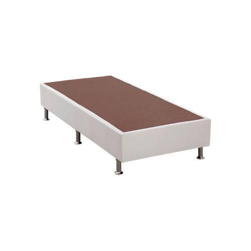 Base Cama Box Courino Branco Solteiro (88x188x23) Ortobom