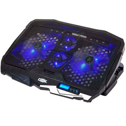 Base Cooler com Lcd Suporte para Notebook 17 Gamer Led 4 Coolers - Dx-006