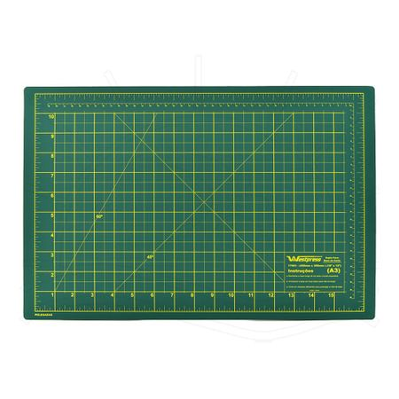 Base de Corte Dupla Face Westpress Verde/Amarelo - 30x45cm