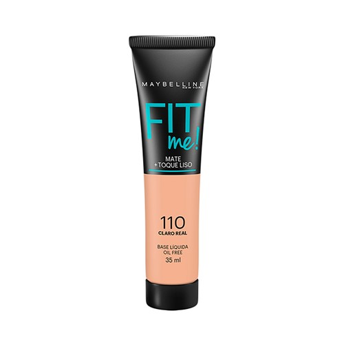 Base Líquida Maybelline Fit me Cor 110 Claro Real com 35ml