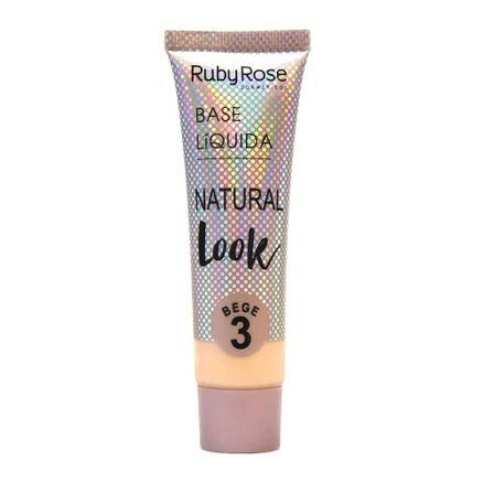 Base Líquida Ruby Rose Natural Look Bege 3 HB 8051