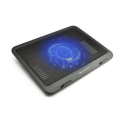 Base Notebook com Cooler Led Azul Ate 14p Nbc-11bk C3tech