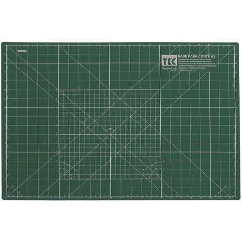 Base para Corte A2 Verde 60x43cm Dupla Face Toke e Crie