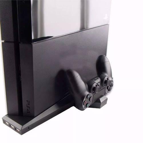 Base Suporte Playstation 4 e Carregador 2 Controles Ps4